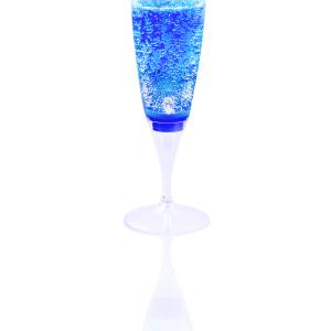 LED Sektglas blau