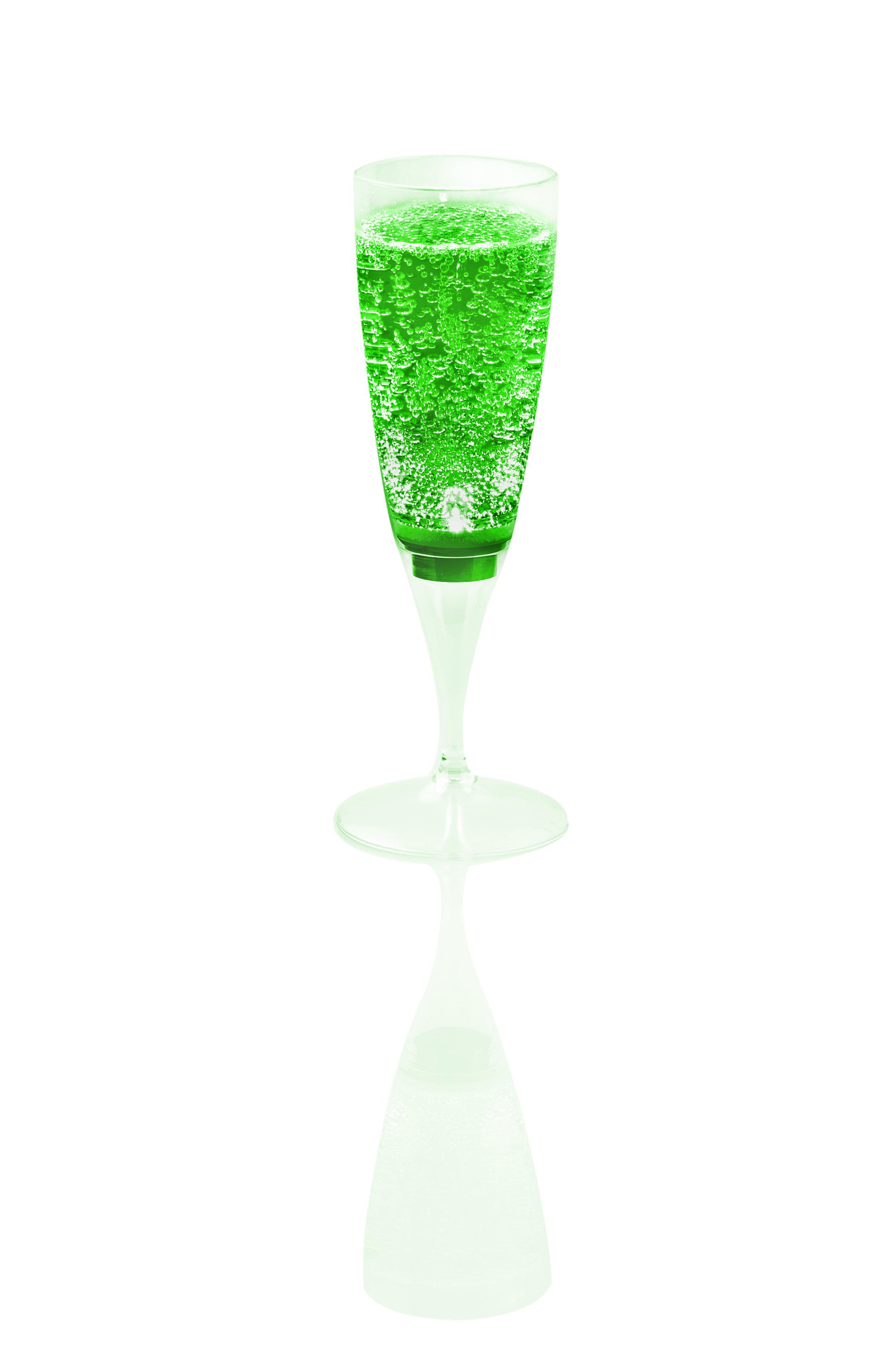 LED Sektglas grün