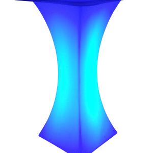 LED Stehtisch blau