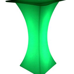 LED Stehtisch grün