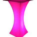 LED Stehtisch pink