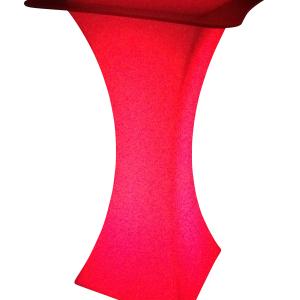 LED Stehtisch rot