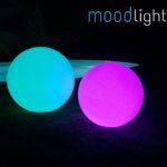 LED Leuchtkugel türkis & lila